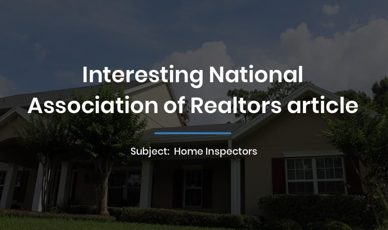 Interesting National Association of Realtors article