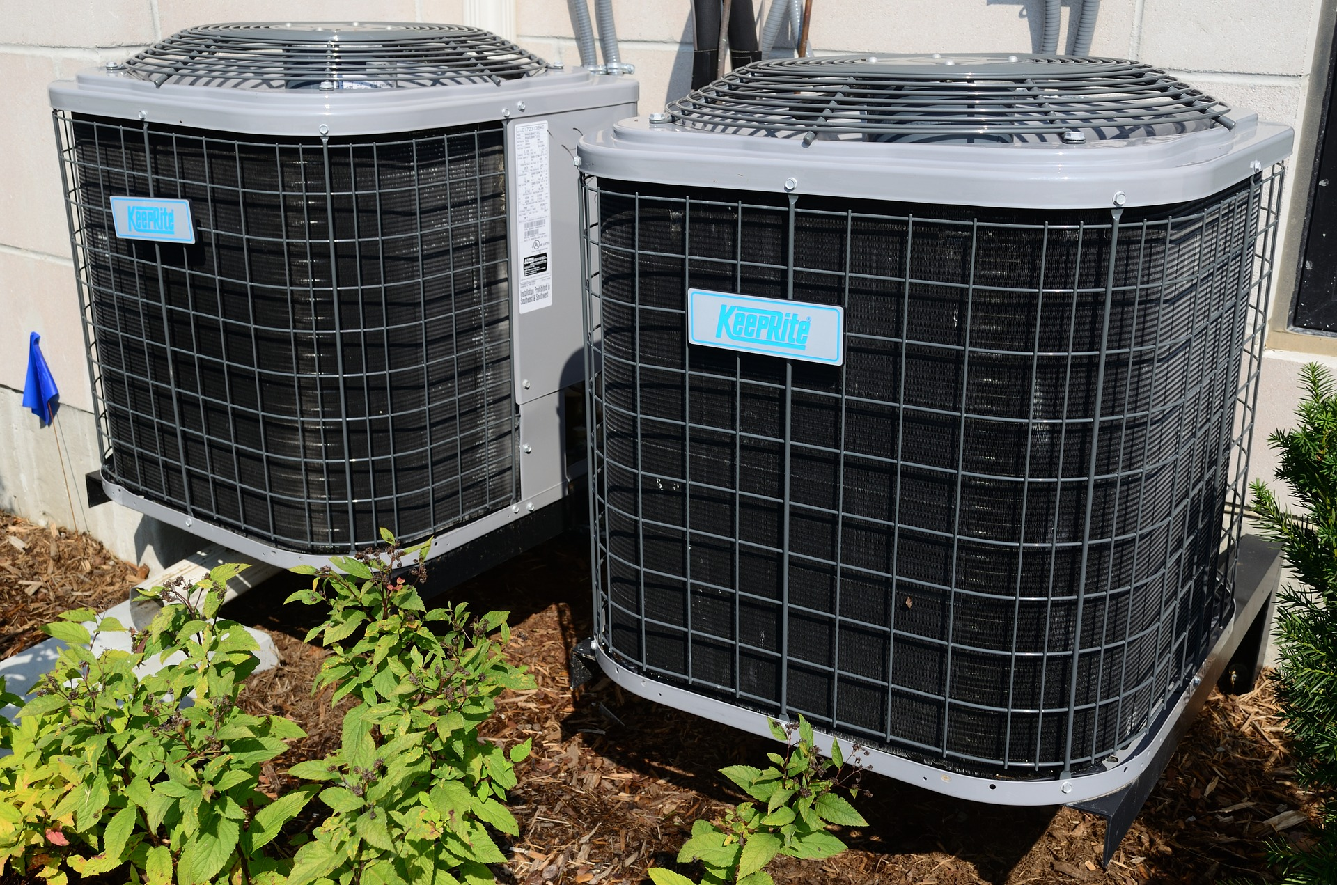 air conditioner handler outside building