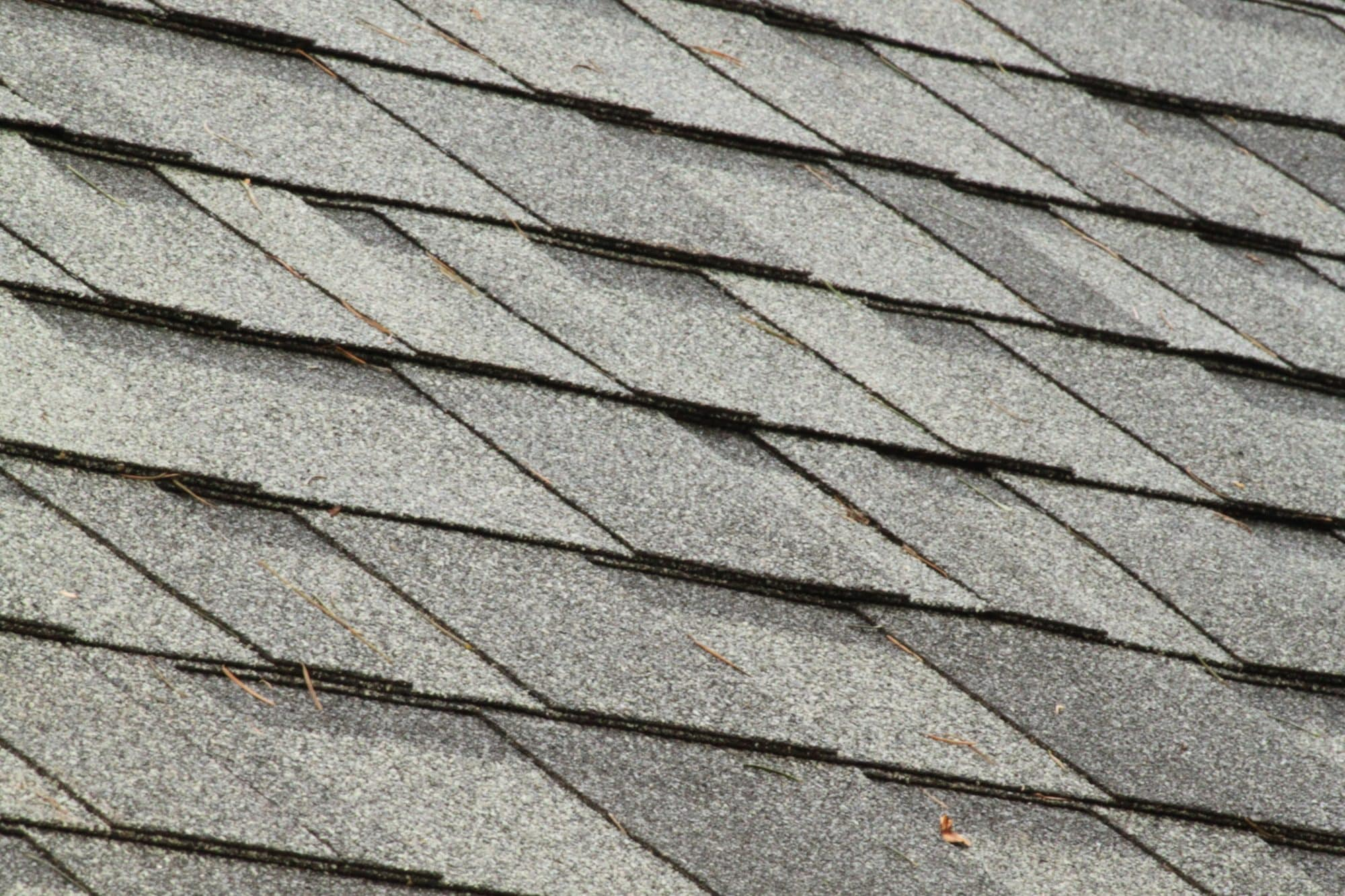 closeup of architectural shingles